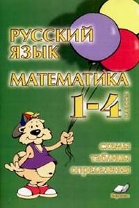Русский язык. Математика. 1-4 классы. Схемы, таблицы, определения