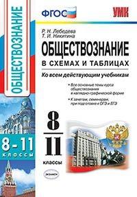 Лебедева Р.Н. Обществознание в схемах и таблицах. 8-11 классы. ФГОС (экз)